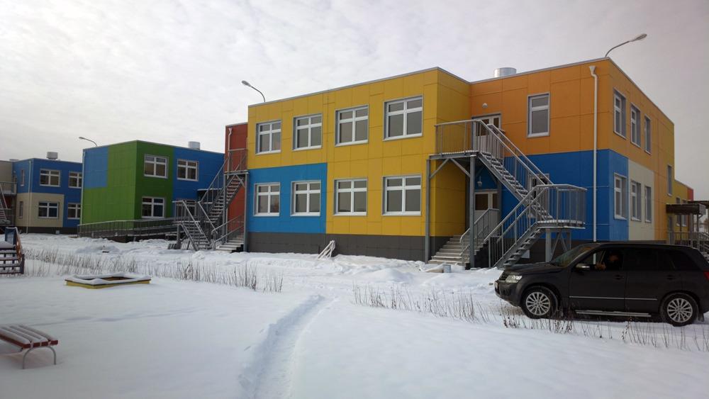 Фиброплиты на детском саду - Политаево