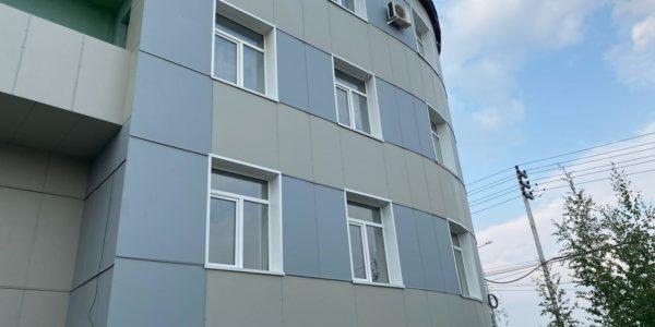 Административное здание - Якутия - Фиброплита ФАСАД-КОЛОР