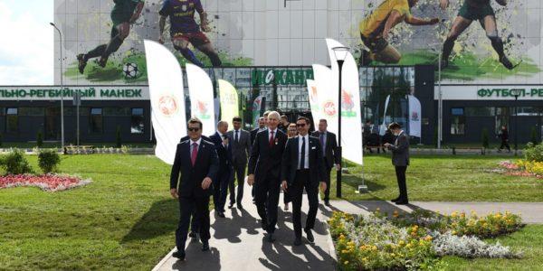 Открытие футбольно-регбийного манежа «Искандер» в Казани